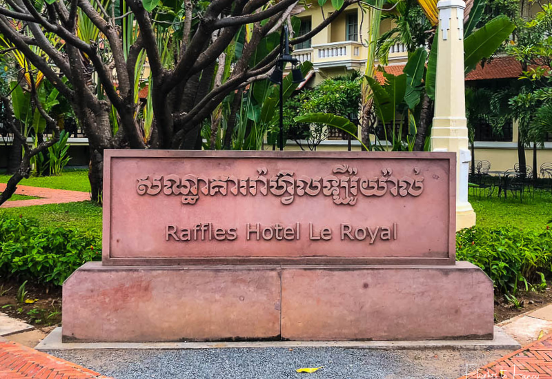 Entry Raffles Hotel Le Royal Phnom Penh