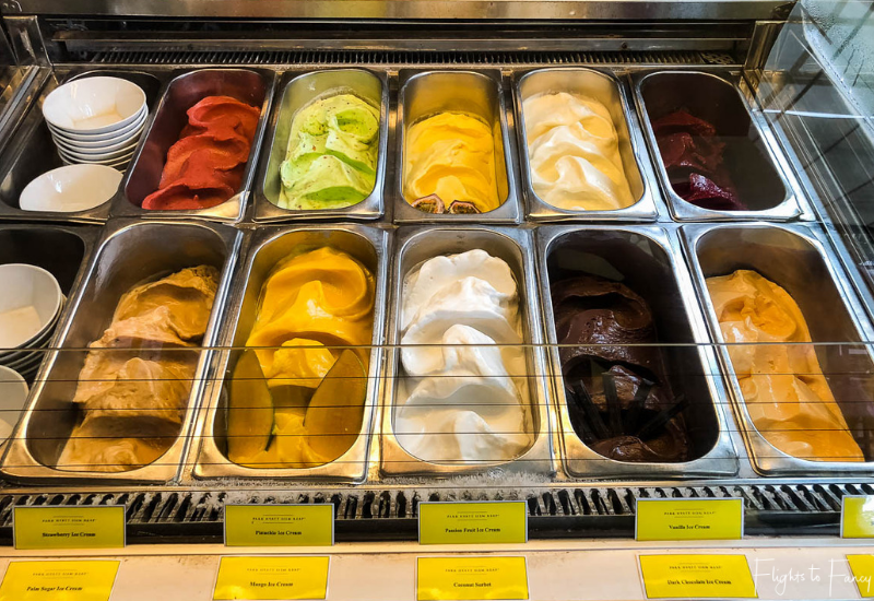 Gelato at The Glasshouse at the Park Hyatt Siem Reap