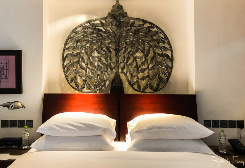 King size bed at the Park Hyatt Siem Reap