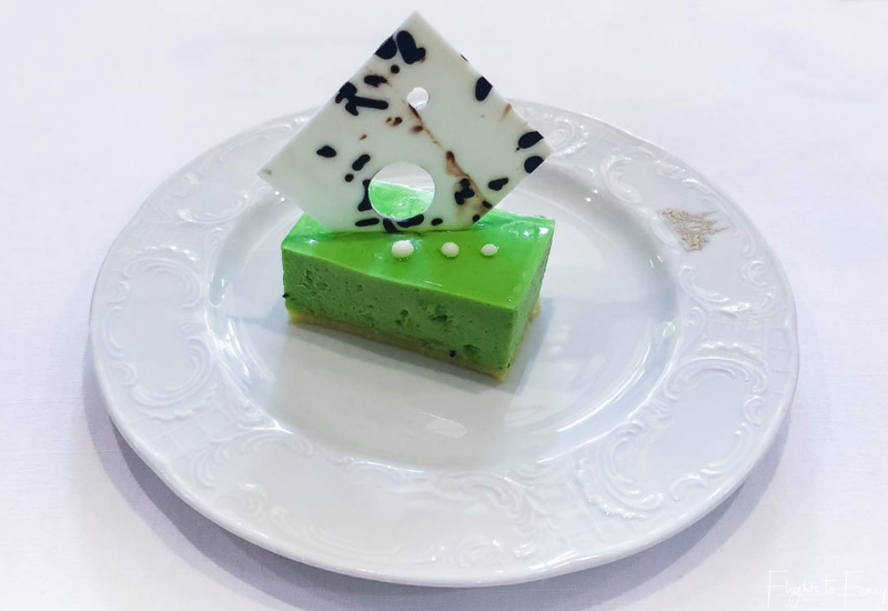 Kiwi mousse from the buffet brunch Phnom Penh Raffles Hotel Restaurant