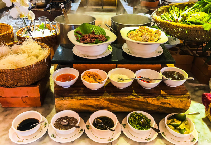 Noodle bar at breakfast in Phnom Penh at Raffles Hotel Le Royal