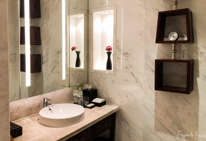 One of the vanities in our luxury villa Siem Reap @ Park Hyatt