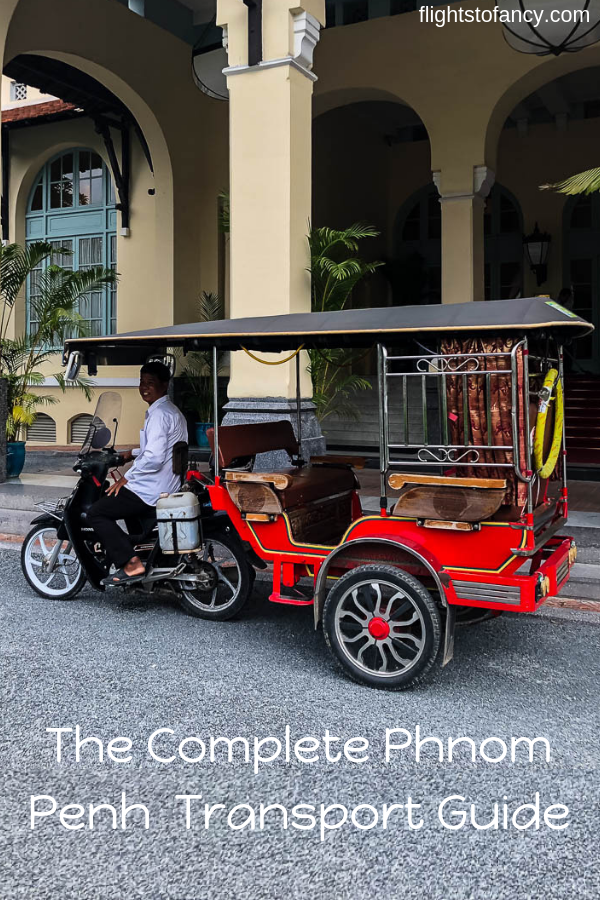 Navigate transport in Phnom Penh like a pro with this complete guide to using buses, trains, taxis, ferries, water taxis, Grab, airport transfers and more. #phnompenh #cambodia #transport #grab