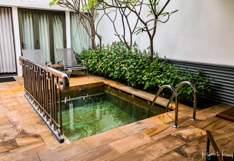 Private pool in our luxury villa Siem Reap @ Park Hyatt