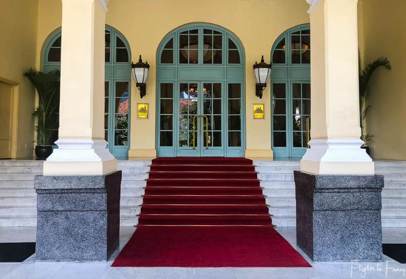 Raffles Hotel Phnom Penh entrance