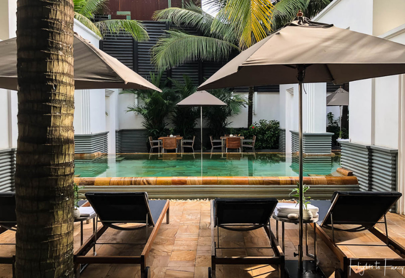 Smaller pool outside our suite at Park Hyatt Siem Reap