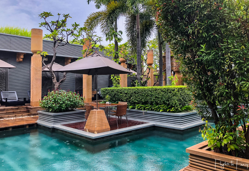 The Pool At the Park Hyatt Siem Reap Resort In The Rain