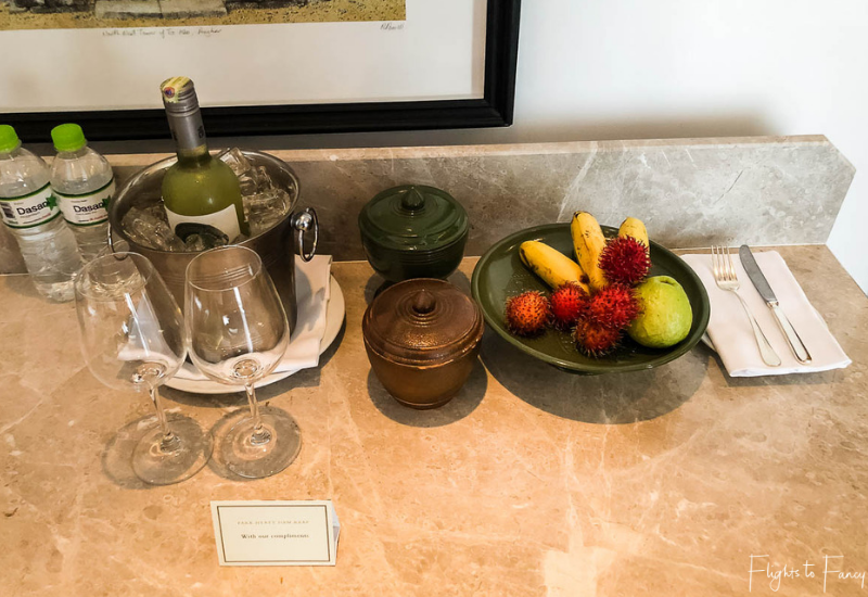 Welcome gifts in our luxury villa Siem Reap @ Park Hyatt