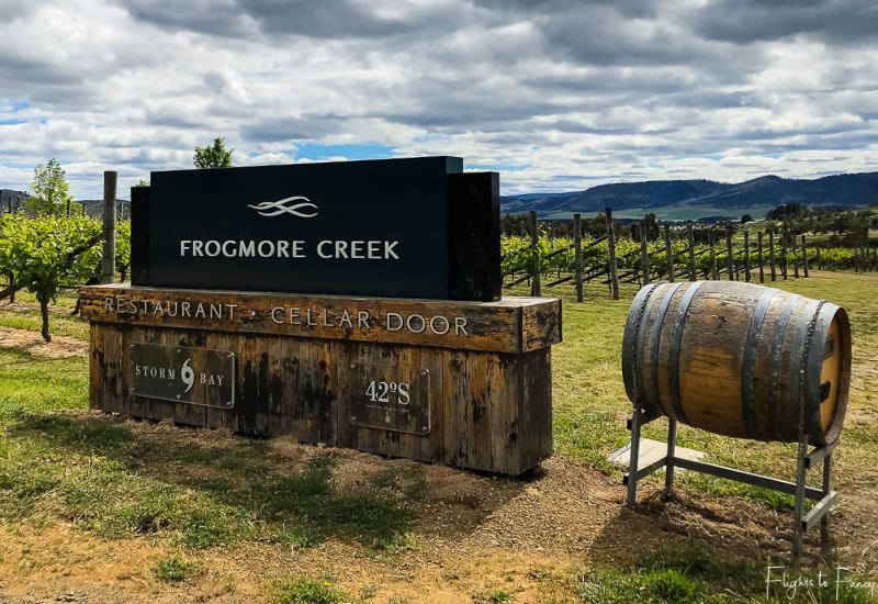 Hobart Wineries: Frogmore Creek Entrance