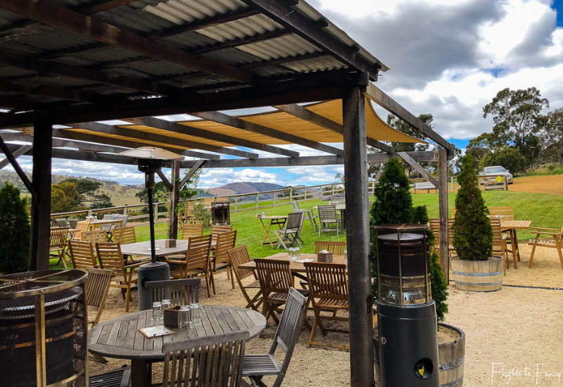 Hobart Wineries: Pooley Wines Outdoor Dining Area