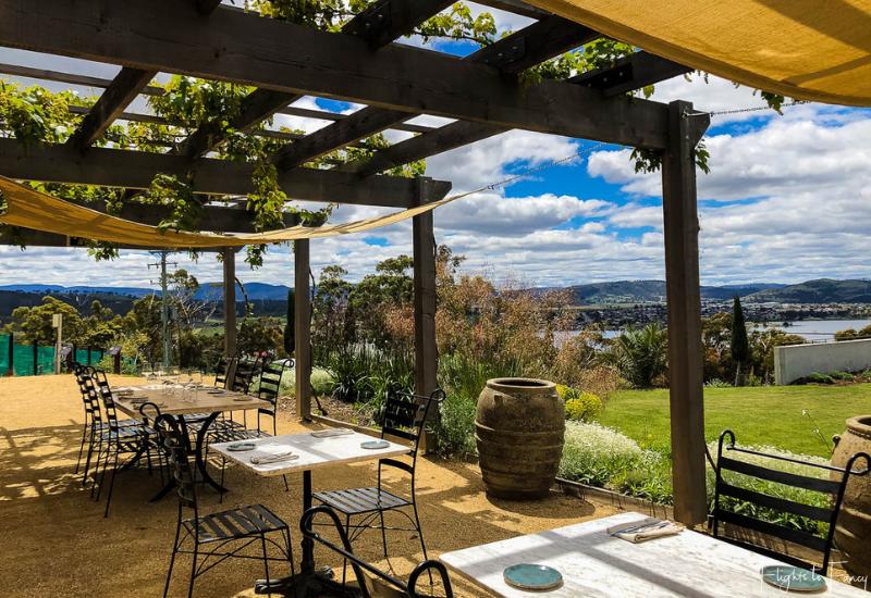 Hobart Wineries: Stefano Lubiana Wines Terrace