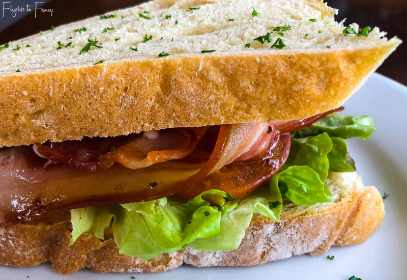 BLT from Old Mountaineers Cafe Mount Cook