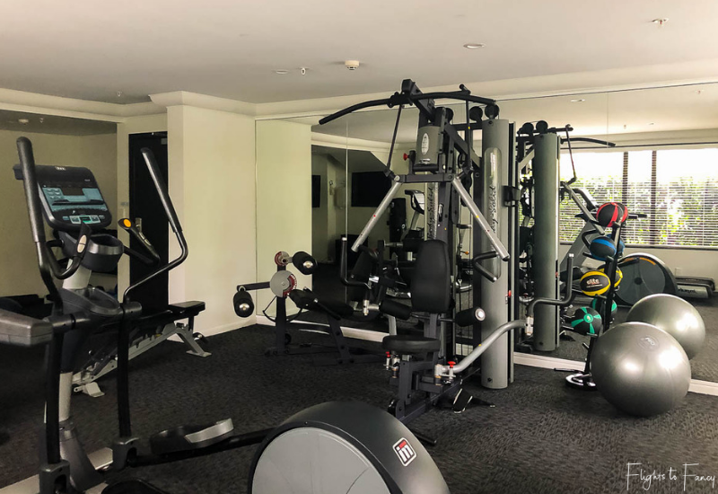 Gym at the Hotel Montreal Christchurch