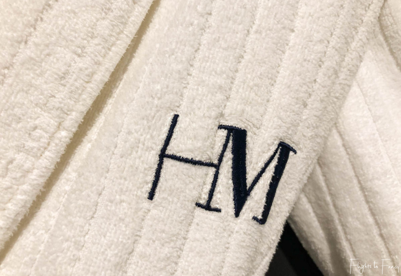 Hotel Montreal Christchurch - Monogrammed robe in our Christchurch luxury hotel suite