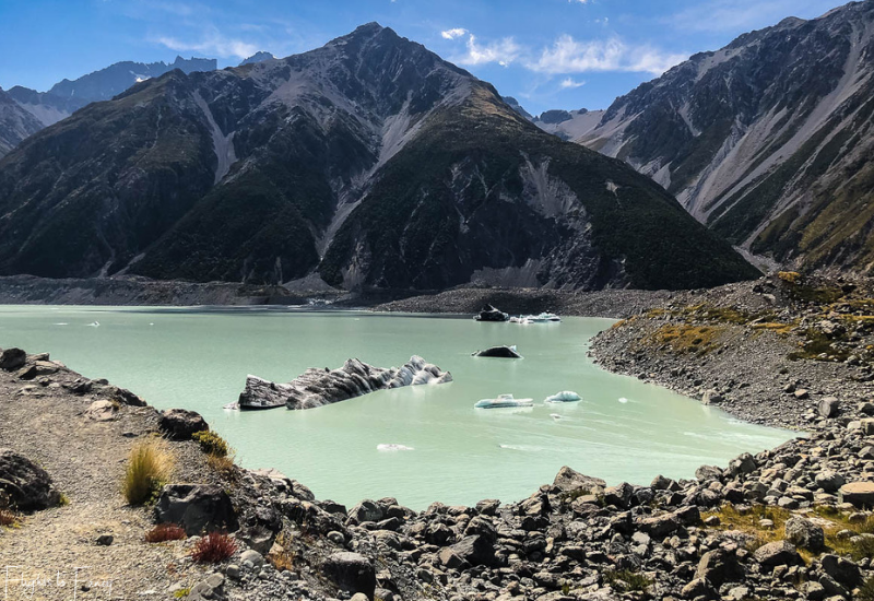 Mount Cook Walks: Ice in Tasman Lake