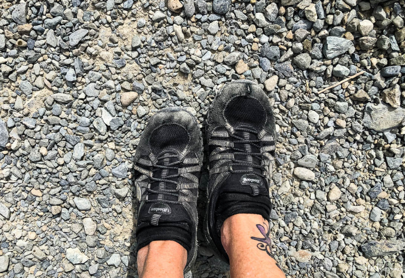 Mount Cook Walks: My beat up sketchers after the Hooker Valley Track