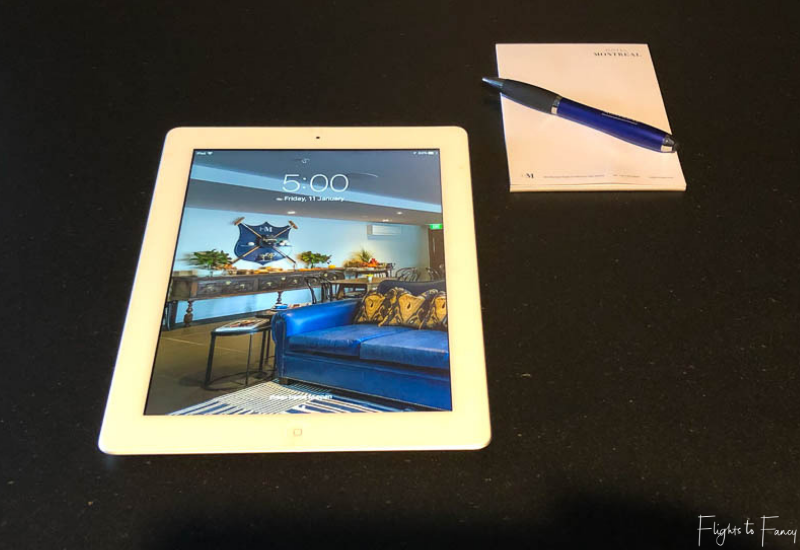 iPad at the Hotel Montreal Christchurch