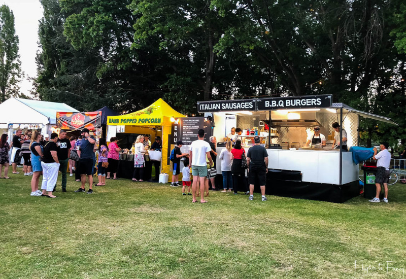 Canberra Night Noodle Markets - Italian Sausages & BBQ Burgers