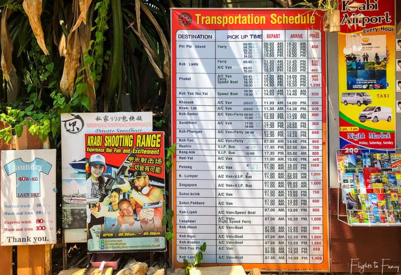 Ao Nang Transport Stall