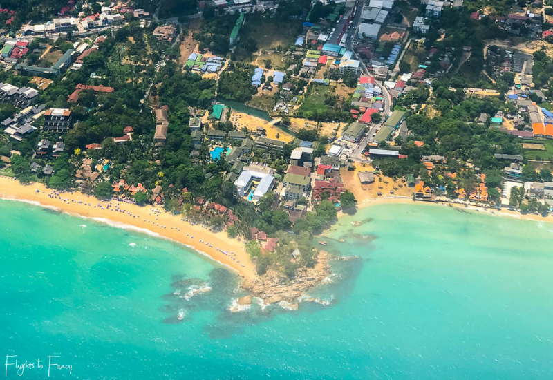 Ariel View of Chaweng Beach Koh Samui