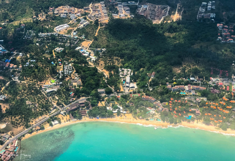 Ariel View of Chaweng Beach Noi Koh Samui