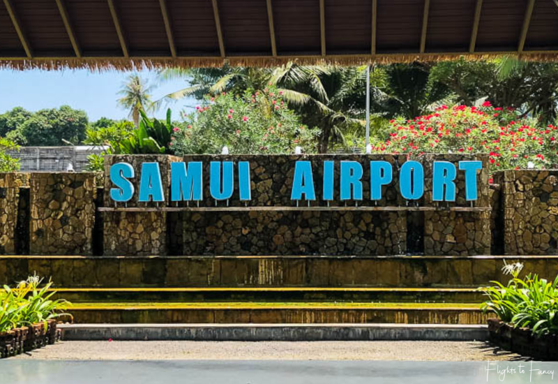 Bangkok Airways Review: Samui Airport Sign