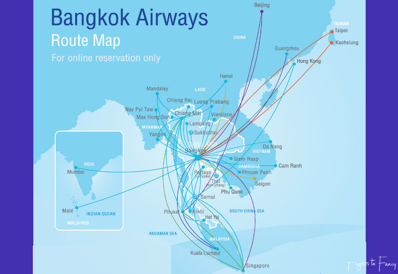 Bangkok Airways Route Map