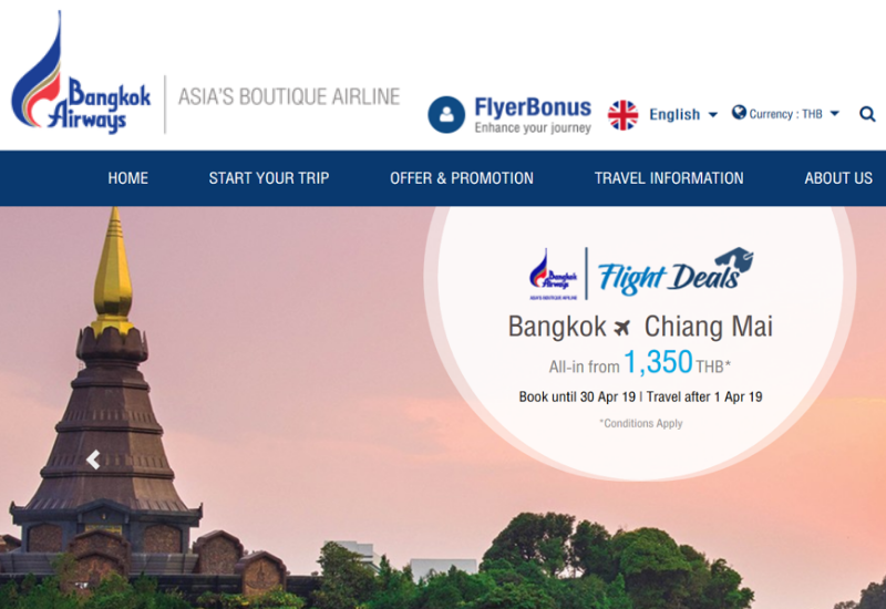 Bangkok Airways Website