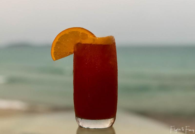 Cocktail from the Beach Bar Impiana Resort Chaweng Noi Koh Samui