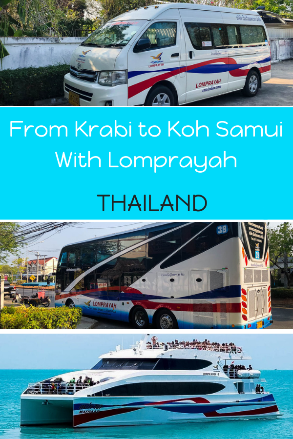 Everything you need to know about catching the Lomprayah Ferry from Ao Nang to Koh Samui. This Krabi to Koh Samui ferry picks up at various locations in Krabi and docks at Nathon Pier Koh Samui. #thailand #ferry #islandhopping #krabi #kohsamui #kohsamuiferry #lomprayah