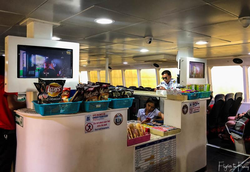 Shop on the Lomprayah Catamaran from Krabi to Nathon Pier Koh Samui