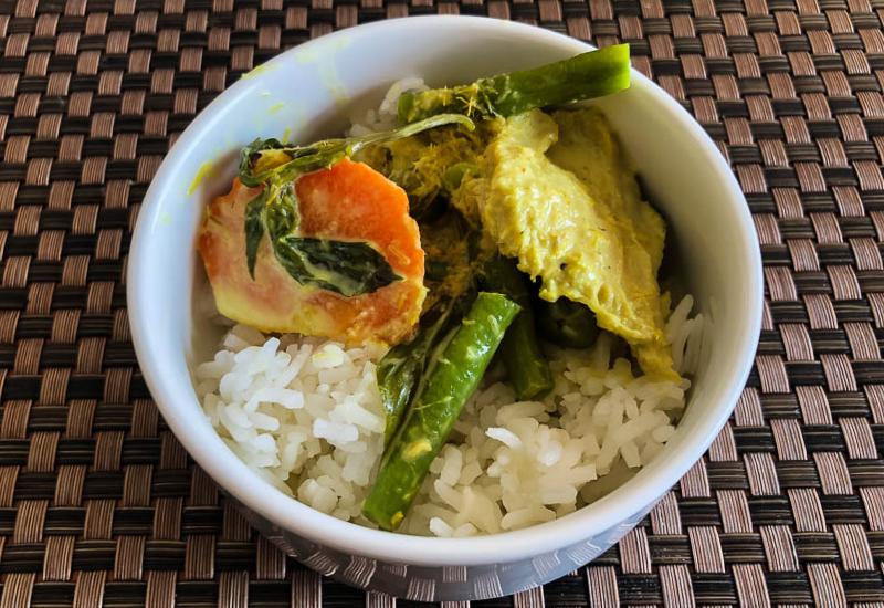 Thai Green Curry & Rice Sabai Restaurant Impiana Resort Chaweng Noi Koh Samui