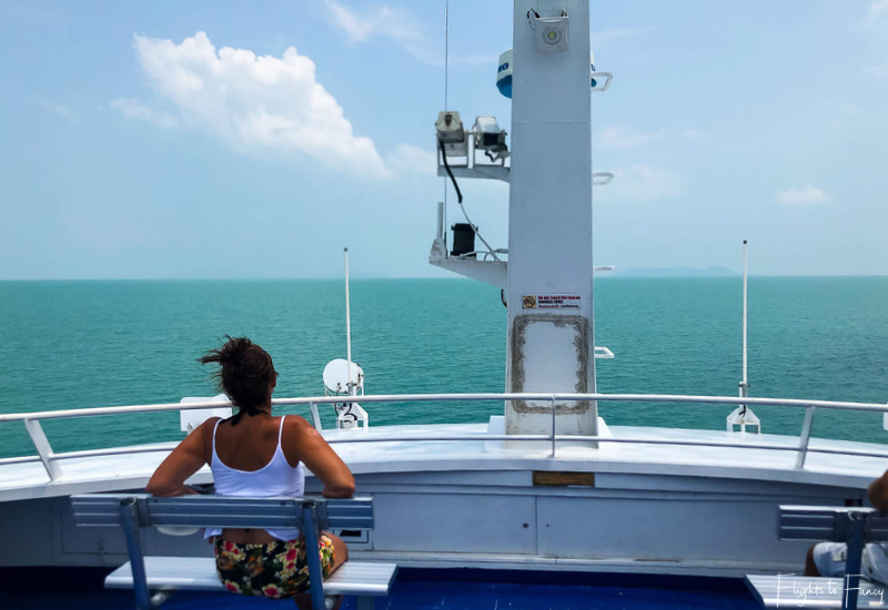Top deck of the Lomprayah Ferry from Krabi to Koh Samui