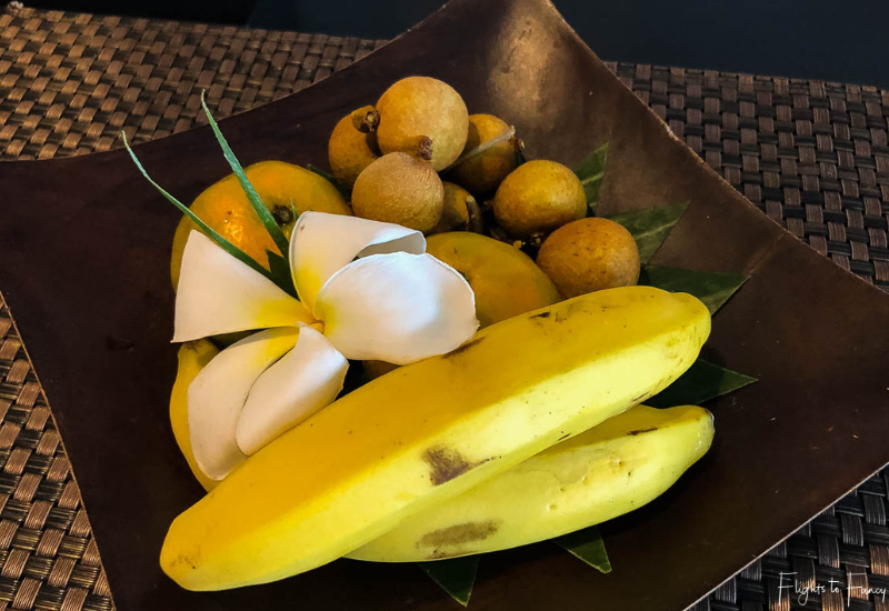 Welcome fruit basket at Impiana Luxury Hotel in Koh Samui