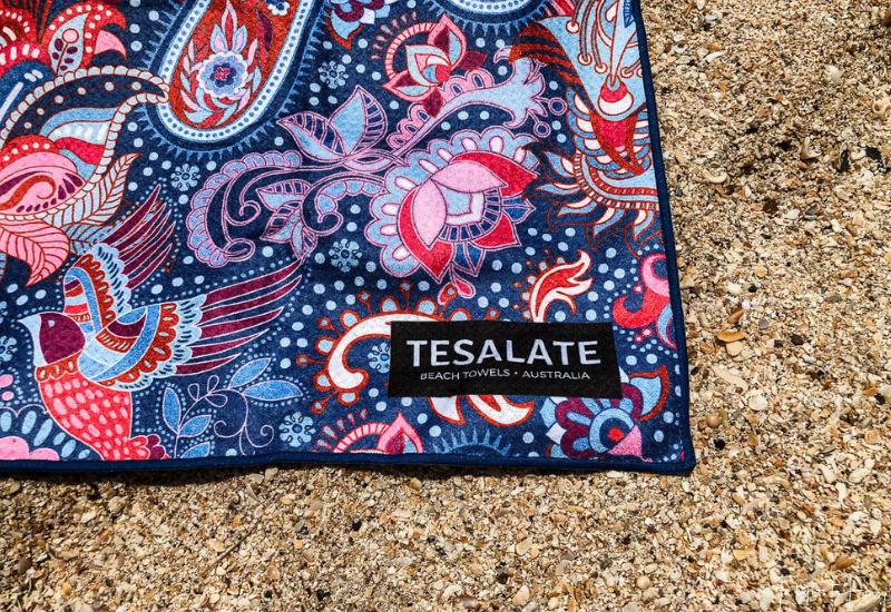 Tesalate Beach Towel On The Sand