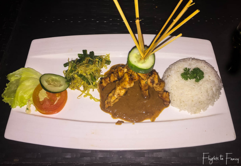 Nusa Lembongan Restaurants - The Sampan Satay Chicken